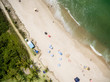 Top View of Paradise Beach in Brazil