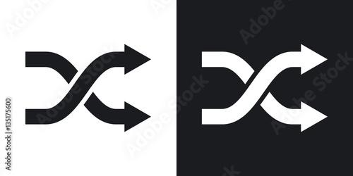 Fotografie, Obraz  Vector shuffle icon