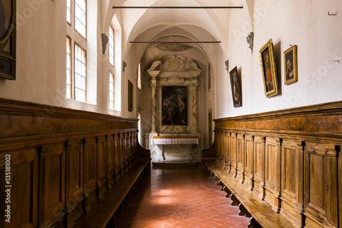 In de dag Temple interiors and details of Pisa charterhouse, Pisa, Italy