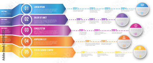 Photo  Timeline Infographic Template