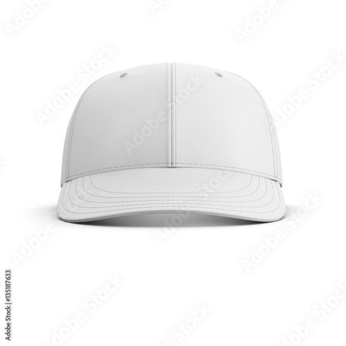 Fotografia  white empty baseball cap