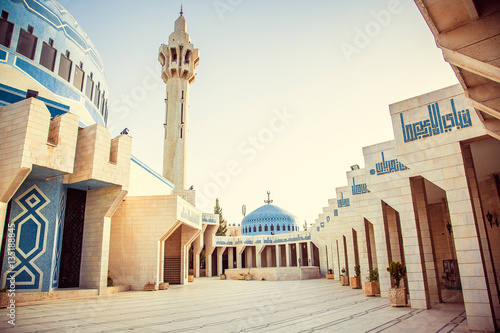 King Abdullah I Mosque in Amman, Jordan Wallpaper Mural