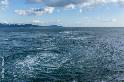 Naruto whirlpools in Tokushima of Japan Wallpaper Mural