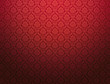 canvas print picture - Red damask pattern background