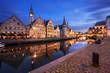 Ghent (Belgium) at twilight.