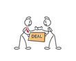 Creative Business Strategy Tips Stickman Illustration Concept - Find The Right Business Partner