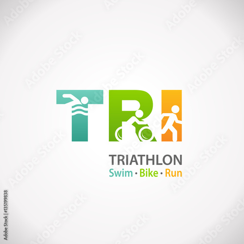 Triathlon fitness symbol icon Canvas Print