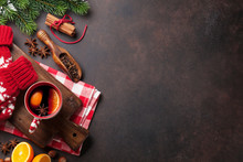 Christmas Mulled Wine And Ingr...
