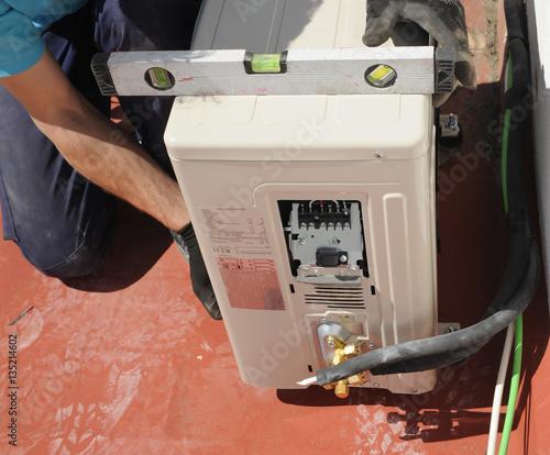 Photo Equilibrado de un aparato de aire acondicionado