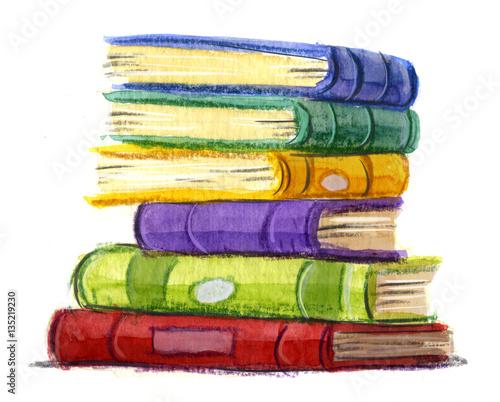 Canvastavla muchos  libros
