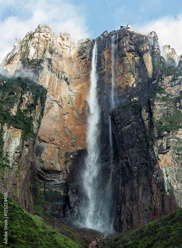 Angel Falls (Salto Angel) is worlds highest waterfalls (978 m) - Venezuela, South America - 135224486