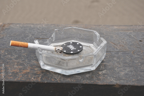 Smoking is a gambling with our health плакат