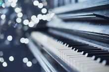 Vintage Old Piano. Close-up Of...