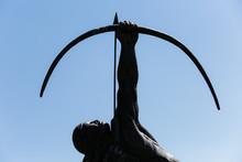 Bronze Statue Of A Native Amer...