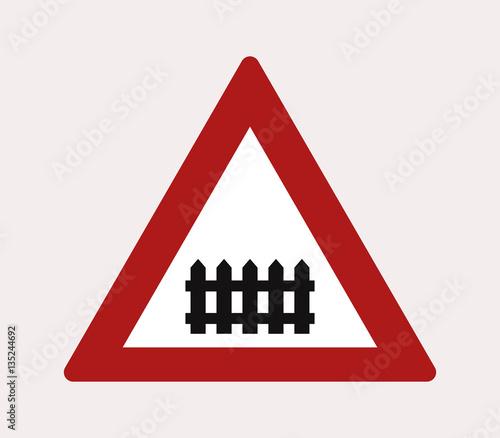 Valokuvatapetti icon level crossing sign