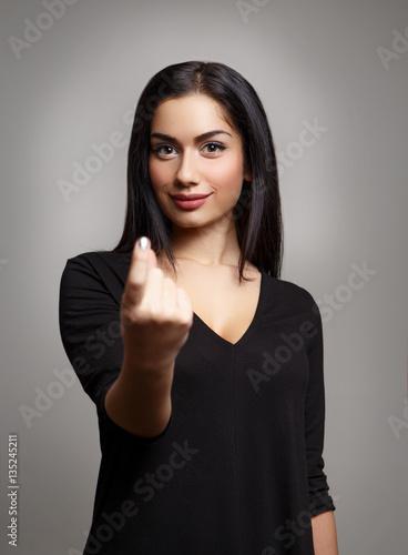 Photo  Woman Hand Beckoning