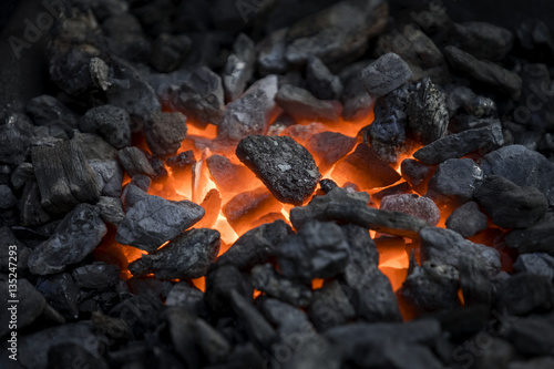 Fotografiet  Heated coals