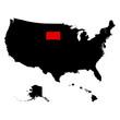 map of the U.S. state South Dakota