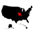 map of the U.S. state Missouri vector illustration