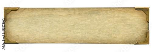 Fotografía Old wooden plaque