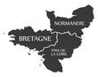Bretagne - Normandie - Pays de la Loire Map France