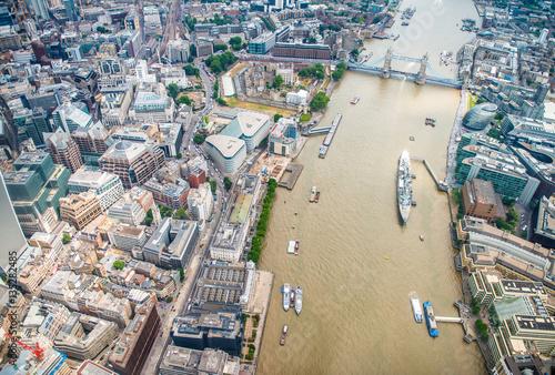 Fotografie, Obraz  London buildings along river Thames - UK