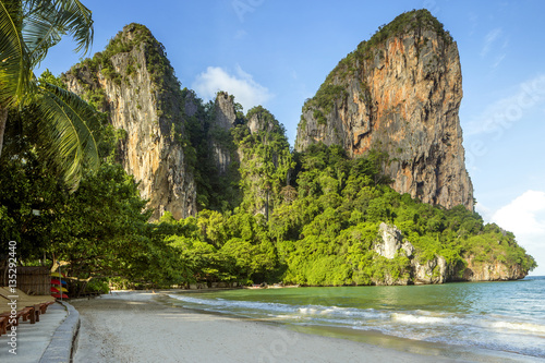 Panorama of Railay beach in Krabi province, Thailand Canvas Print
