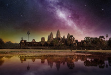 Starry Sky Above The Angkor Wa...
