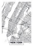 Fototapeta Nowy York - Vector poster map city New York