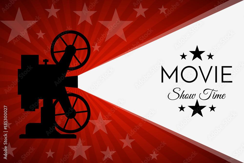 Photo  Cinema background or banner. Movie flyer  ticket template