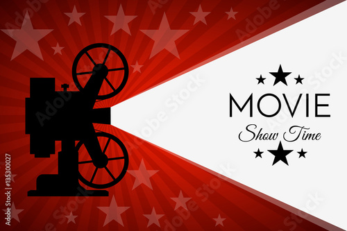 Photo  Cinema background or banner. Movie flyer  ticket template