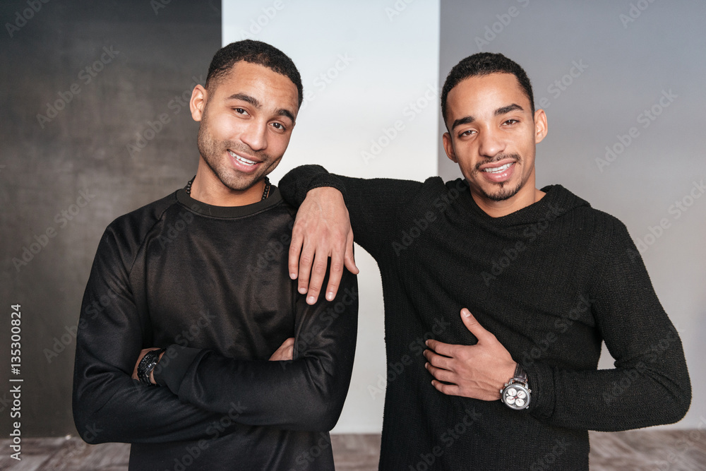 Fototapety, obrazy: Two happy confident african american young men