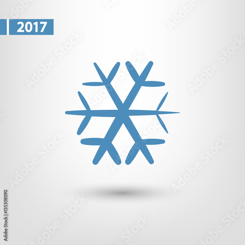 Fototapeta Snowflake icon, vector illustration. Flat design style obraz na płótnie