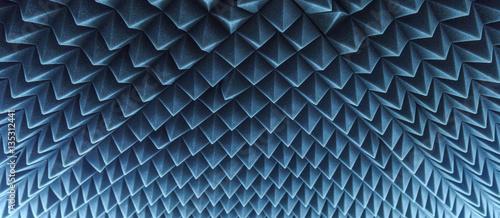 Fotografie, Obraz  dark grey triangular texture acoustic foam rubber