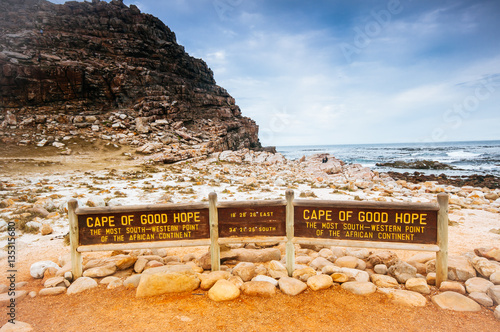 Fotografering  The Cape of Good Hope on the Atlantic coast of Cape Peninsula, S