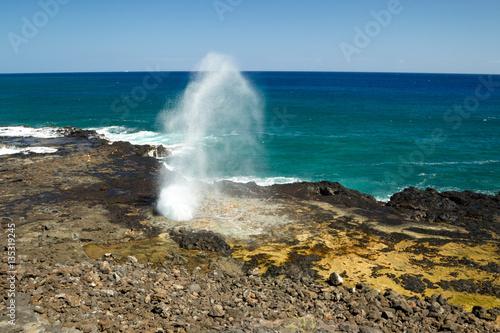 Valokuva  Spouting Horn, ein Blowhole an der Südküste von Kauai, Hawaii, USA