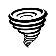 Tornado Symbol Isolated On Yellow Background
