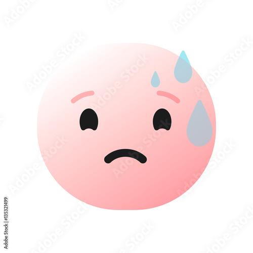 pink nervous sad confused embarrassed scared emoticon