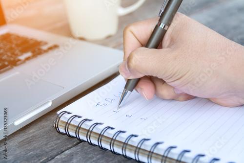 Fotografie, Obraz  hand write to do list on notebook