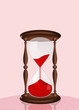 hourglass for blood donation