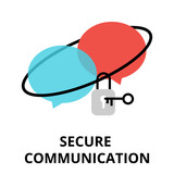 Secure communication icon, for graphic and web design