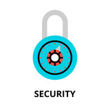 Security icon, for graphic and web design