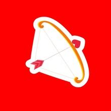 Holiday Love Arrow On A Red Ba...