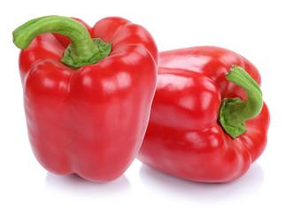 Paprika Paprikas rot frisch Gemüse Freisteller freigestellt iso