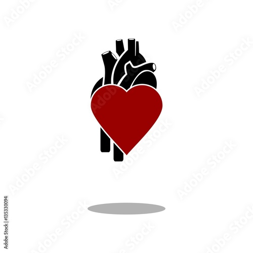 Love human heart icon vector - Buy this stock vector and