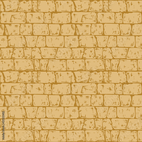 Coursed ashlar stone wall texture Canvas Print