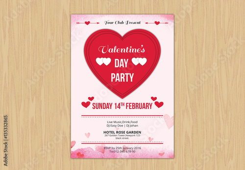 Valentine S Day Event Flyer Layout 2 Buy This Stock Template And
