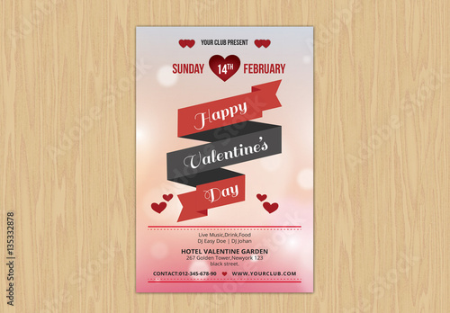 Valentine S Day Event Flyer Layout 3 Buy This Stock Template And