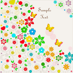 Floral card with space for text