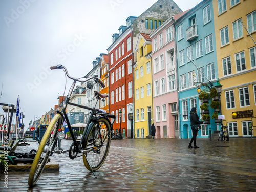 Canvas Print Copenhagen by bike
